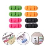 5PCs Multi-Purpose Cable Clips Wire Holder Organizer – Random Color