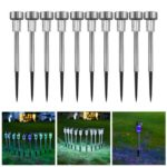 10PCs Outdoor Solar Lawn Lights Landscape Lamp for Garden