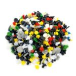 200PCs Universal Plastic Rivets Automobile Expansion Screws