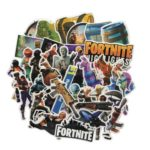 50PCs Fortnite Games Graffiti-art Stickers for Suitcase Scooter Skateboard Car – Random Delivery