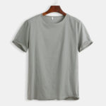 New Mens Cotton Linen Vintage O-neck Summer Linen Tee Shirt